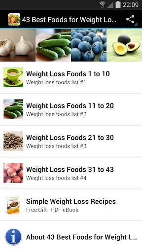 43的减肥食品