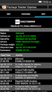 Package Tracker Express- screenshot thumbnail