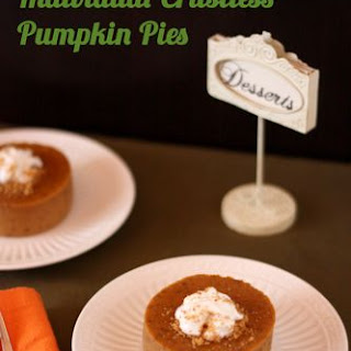 Individual Crustless Pumpkin Pies (aka Pumpkin Custards)