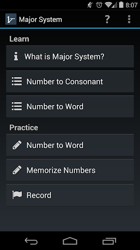 Mnemonic Major System