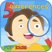 Spot 5 Differences Kids Game