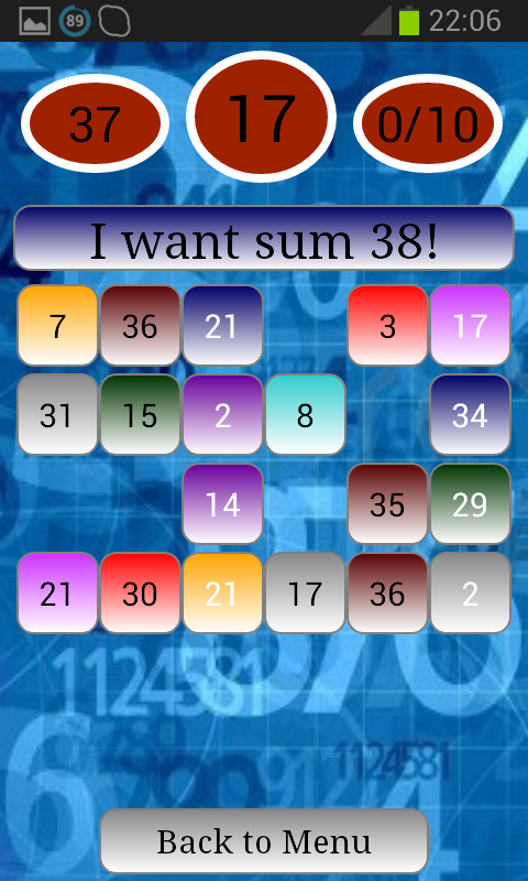 Maths Magic Cubes - screenshot