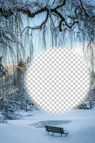 Winter Snowfall Photo Frames