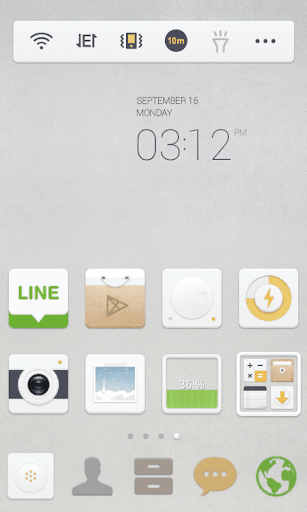 Neutral White Dodol Theme