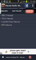 Screenshot of Hausa Radio News