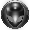 poweramp skin alien grey icon