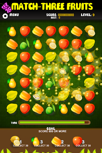 Match Three Fruits Game