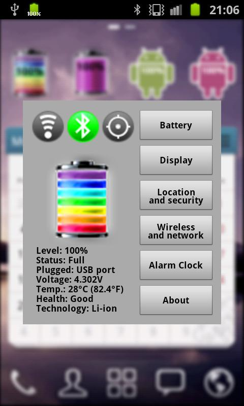 Rainbow Battery- screenshot