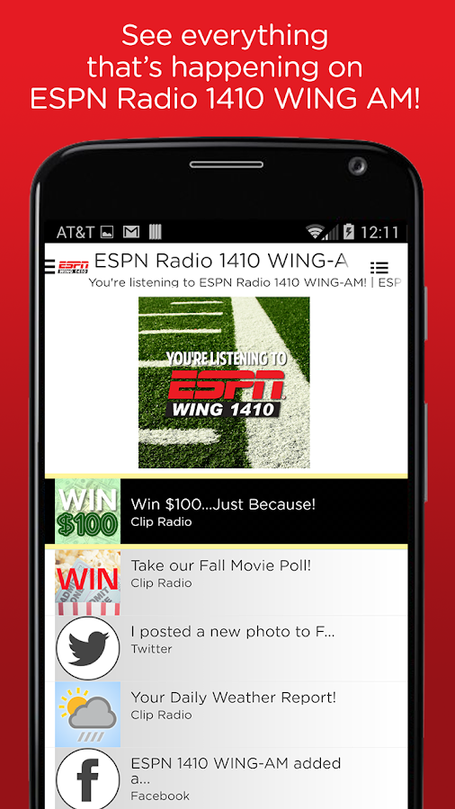 ESPN 1410 WING AM- screenshot