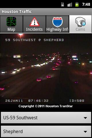 Houston Traffic - screenshot