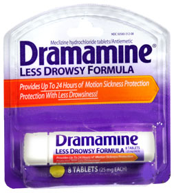 Try Dramamine if you're prone to motion sickness.