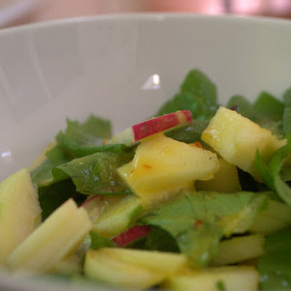 Radish & Apple Salad With An Orange Butternut Oil Dressing..