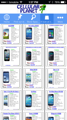 Cellular Planet Stores