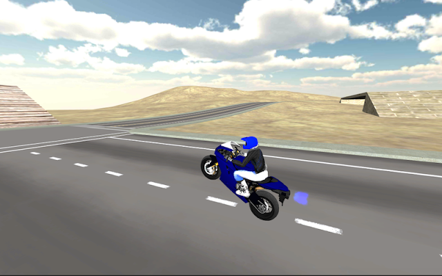 Motorbike driver 3D - screenshot