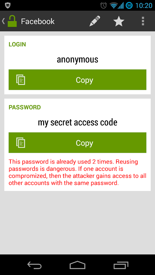 Password Safe / Manager- screenshot