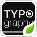 Typo Black GOLauncher EX Theme icon