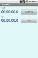 Screenshot of Lap Timer