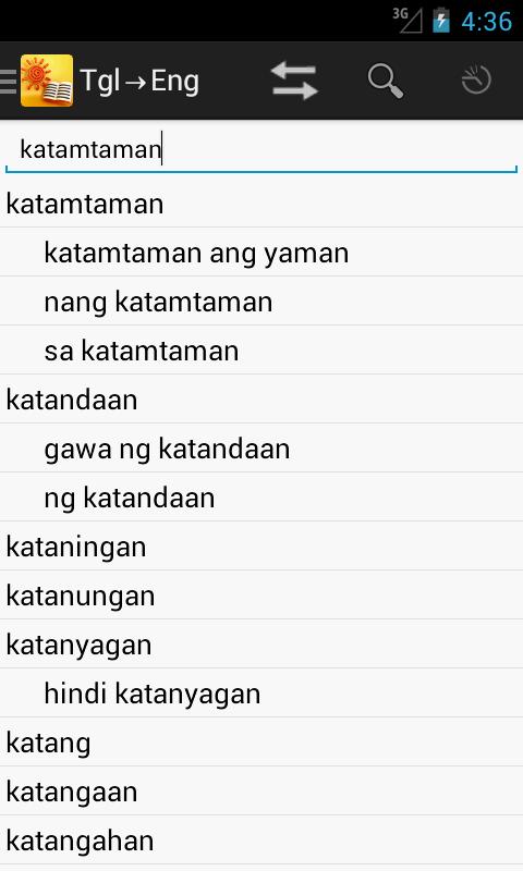 English<->Tagalog Dictionary