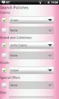 Screenshot of Nail Polish Cataloger