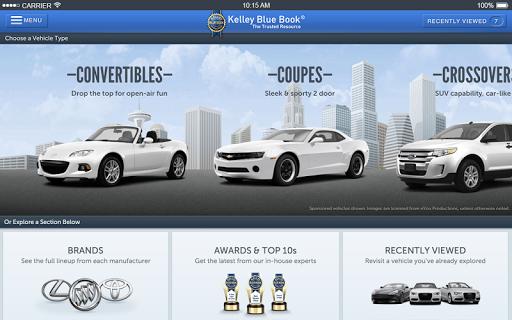 KBB.com Car Prices & Reviews screenshot