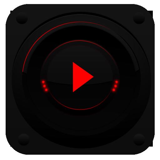 PlayerPro TechnoRed Skin LOGO-APP點子