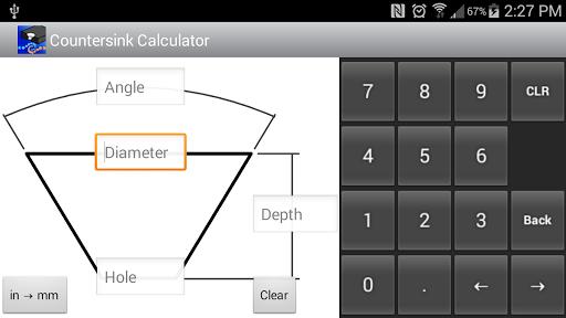 Countersink Calculator
