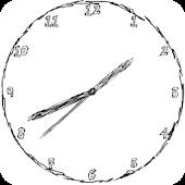 Doodled Analog Clock