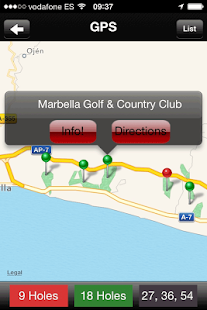 Golf Guide Costa Del Sol- screenshot thumbnail
