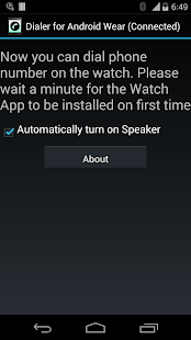 Dialer for Android Wear- screenshot thumbnail