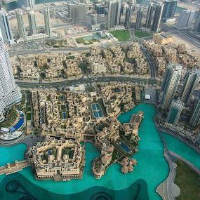 View from Burj Khalifa by Sarita Jithin - City,  Street & Park  Vistas