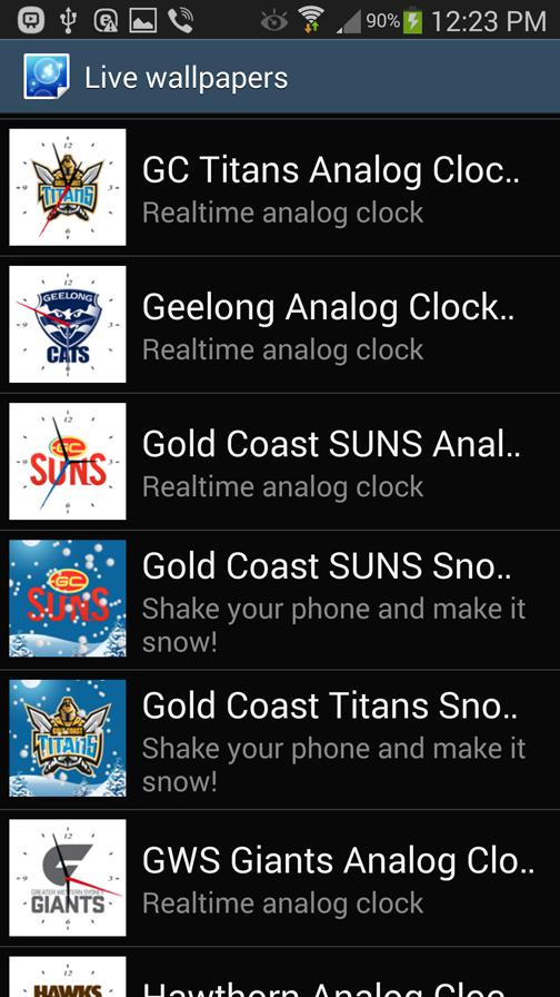 Gold Coast Titans Analog Clock- screenshot