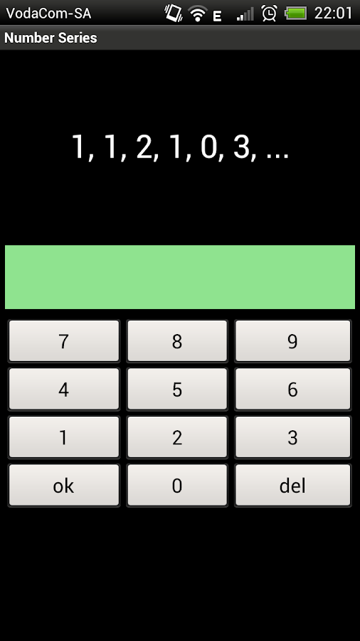 Number Series- screenshot