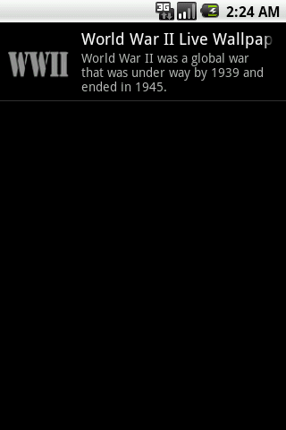 World War II Live Wallpaper