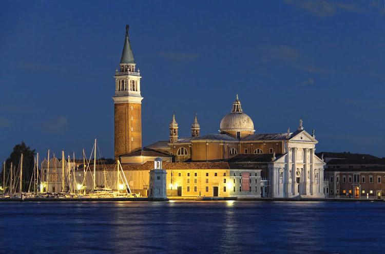 Nightfall at St. Mark's Square in Venice, Italy.