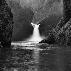 Punchbowl Falls a couple of years ago. by Michael White - Landscapes Waterscapes