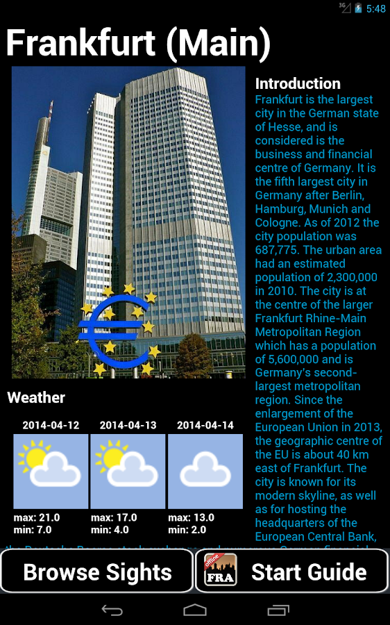 Frankfurt Guide - screenshot