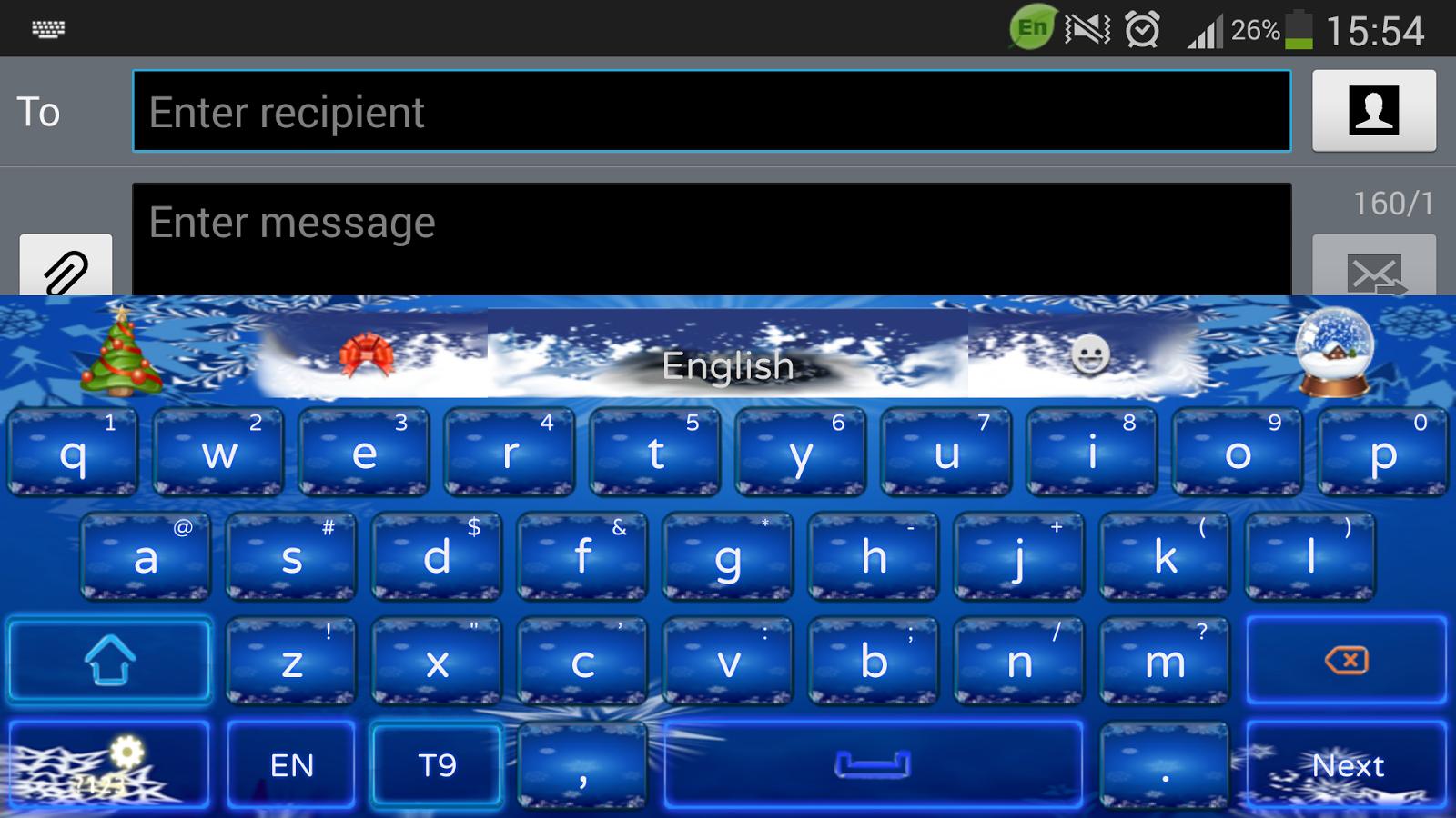 Gmail christmas theme - Christmas Hd Theme Screenshot