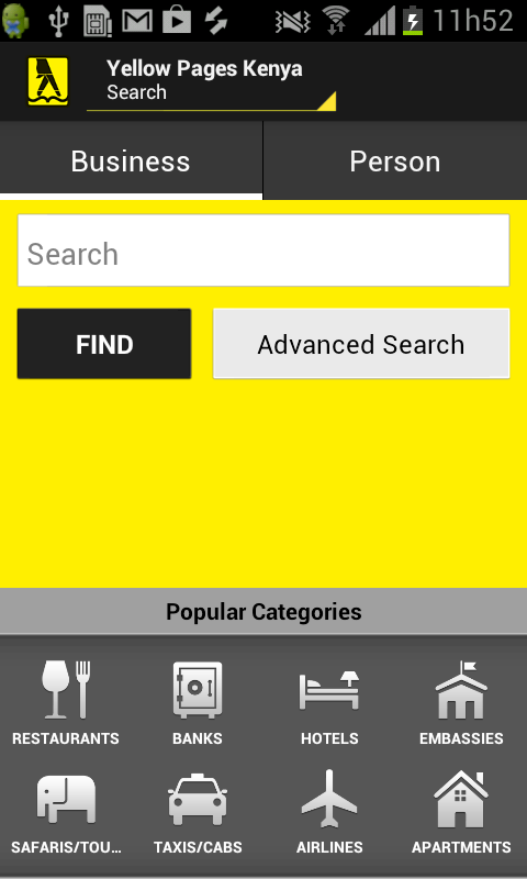 Postel Yellow Pages- screenshot