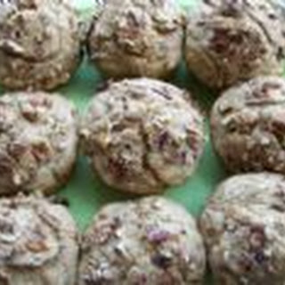 Low Fat Sugar Free Nutty Banana Multigrain Muffins w/ Yogurt.