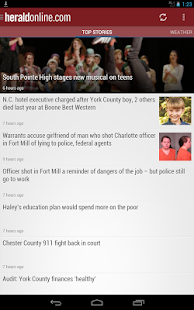 Rock Hill Herald SC newspaper - screenshot thumbnail