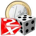 Coins and Dice 3D logo
