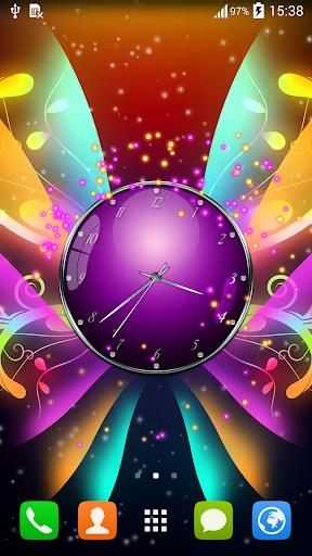 蝶付き時計