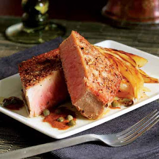 Seared Tuna with Fennel Seeds & Caper Brown Butter