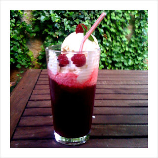 Raspberry Lambic Float