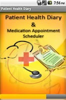 Screenshot of Patient Health Diary