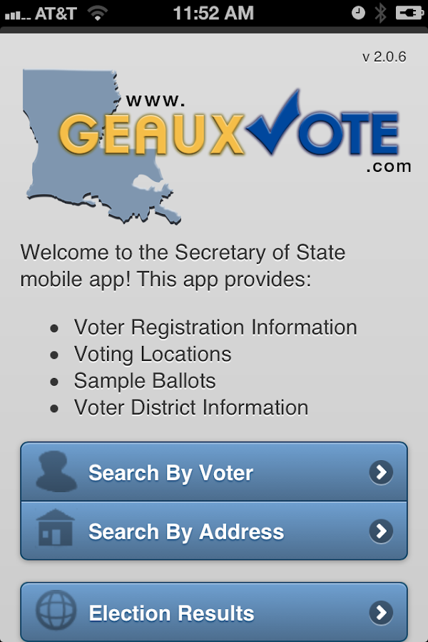 GeauxVote Mobile - screenshot