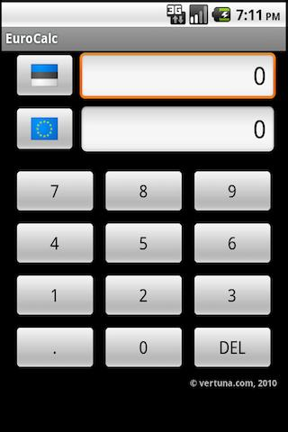 EuroCalc - screenshot