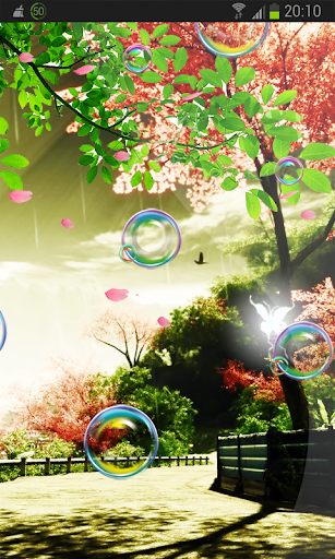 Colored Bubbles n Butterfly HD