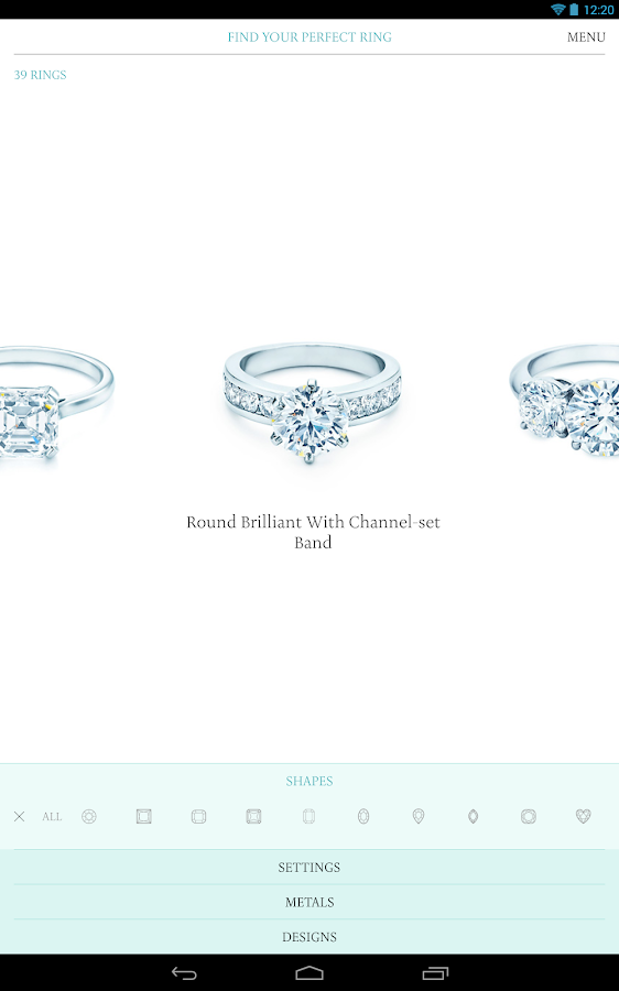 Tiffany Engagement Ring Finder - screenshot