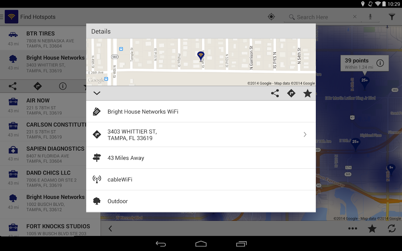 BHN WiFi Finder - screenshot